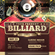 Billiard Tournament Flyer - GraphicRiver Item for Sale