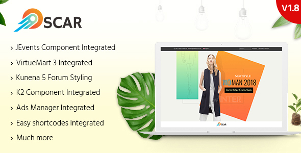 Oscar - Multipurpose Responsive Joomla Template - Business Corporate