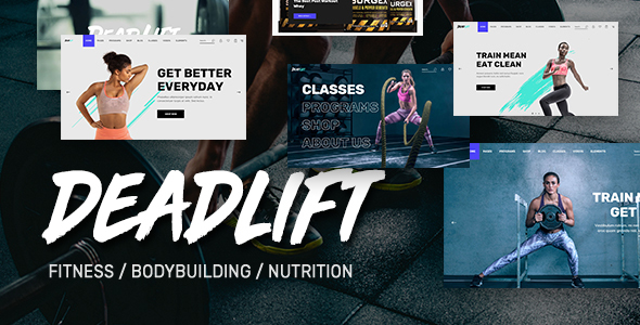 Deadlift - Fitnesss and Bodybuilding WordPress Theme Free Download | Nulled