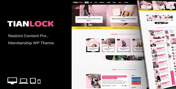 TianLock WP - Restrict Content Pro / Membership WordPress Theme - News / Editorial Blog / Magazine