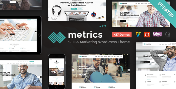 SEO Metrics v2.0 – SEO, Digital Marketing, Social Media WordPress Theme