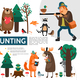 Flat Hunting Infographic Template - GraphicRiver Item for Sale