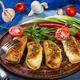 Pancakes with meat and fresh vegetables - PhotoDune Item for Sale