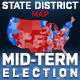 2018 Midterm Election Map | State Congressional Districts - VideoHive Item for Sale