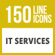 150 IT Services Line Inverted Icons - GraphicRiver Item for Sale