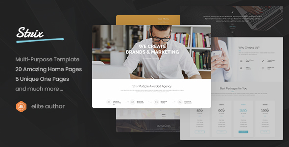 Strix - Multipurpose Business, Agency, Portfolio, Construct HTML5 Template