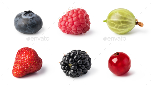Fresh berries set - Stock Photo - Images