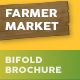Farmer Market Bifold / Halffold Brochure - GraphicRiver Item for Sale