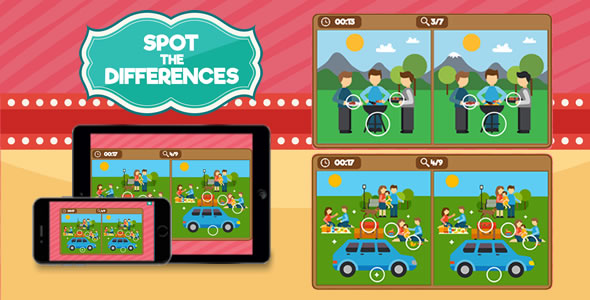 Spot the Differences - HTML5 Game - CodeCanyon Item for Sale