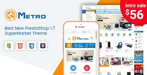 Metro - Multipurpose Responsive MarketPlace PrestaShop 1.7 Theme