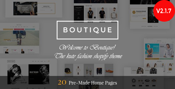 Boutique - Responsive Shopify Theme