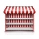 Vector Empty Market Stall with Shelves and Awning - GraphicRiver Item for Sale