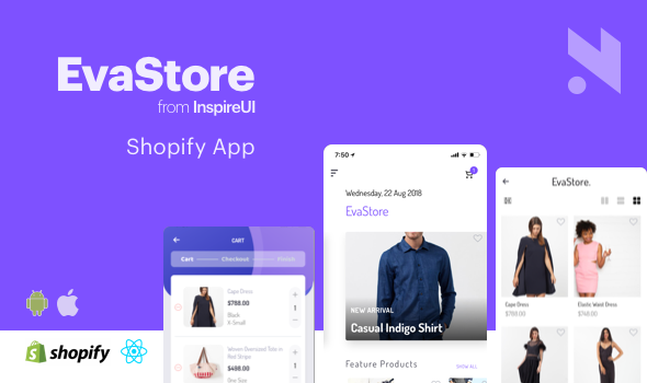 EvaStore - Shopify mobile store by React Native and GraphQL - CodeCanyon Item for Sale