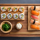 Sushi set on bamboo tray - PhotoDune Item for Sale