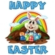 A Happy Easter Bunny And Eggs - GraphicRiver Item for Sale