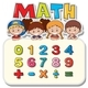 Math Worksheet With Kids And Numbers - GraphicRiver Item for Sale