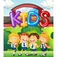 Students At School And Word For Kids - GraphicRiver Item for Sale