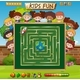 Maze Game On Chalkboard Game Template - GraphicRiver Item for Sale