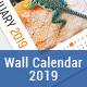 Wall Calendar 2019-Graphicriver中文最全的素材分享平台