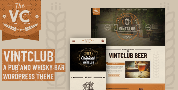 VintClub - A Pub and Whisky Bar WordPress Theme Free Download | Nulled