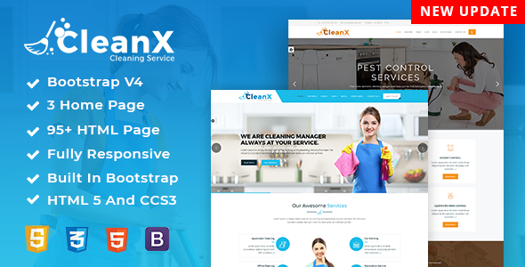 Clean360 - Cleaning, Pest Control Services HTML Template by dexignlabs