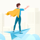 Young Man Conquering World with His Mind - GraphicRiver Item for Sale