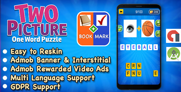 Best Kids Trivia Quiz + 2 Picture 1 Word + Ready For Publish + Android Studio + Multi Language - CodeCanyon Item for Sale