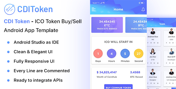 CDI Token - Android ICO Token Buy/Sell App Template - CodeCanyon Item for Sale