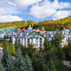 Mont-Tremblant village general view of condos and mountain in fall - PhotoDune Item for Sale
