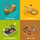 Bicycles Isometric Design Concept - GraphicRiver Item for Sale