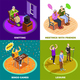 Elderly People Isometric Design Concept - GraphicRiver Item for Sale