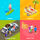 Vacation People Isometric Design Concept - GraphicRiver Item for Sale