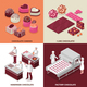 Chocolate Manufacture 2x2 Design Concept - GraphicRiver Item for Sale