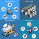 Printing House Isometric Concept - GraphicRiver Item for Sale