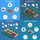 Parking Isometric Concept - GraphicRiver Item for Sale