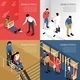 Disabled People Isometric Design Concept - GraphicRiver Item for Sale