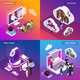 E-Learning Isometric Concept - GraphicRiver Item for Sale