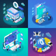 E-Commerce Glow Isometric Concept - GraphicRiver Item for Sale