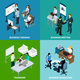 Office Isometric Design Concept - GraphicRiver Item for Sale