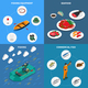 Fishing Concept Icons Set - GraphicRiver Item for Sale