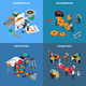 Teamwork Collaboration Concept Icons Set - GraphicRiver Item for Sale
