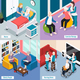 Elderly People Isometric Concept - GraphicRiver Item for Sale