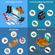 Footwear Factory Concept Icons Set - GraphicRiver Item for Sale