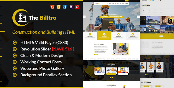 Special The Billtro - Construction HTML Template