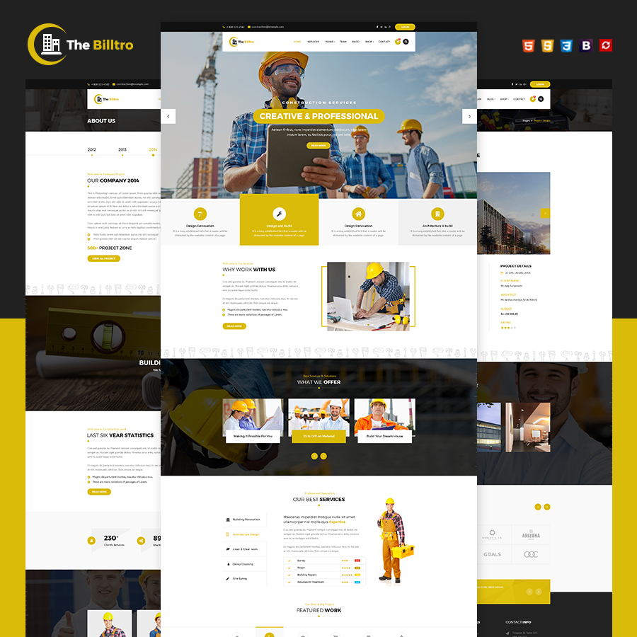 The Billtro - Construction HTML Template - 1