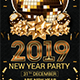 2019 New Year Party Flyer T-Graphicriver中文最全的素材分享平台