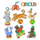 Circus Cartoon Icons - GraphicRiver Item for Sale