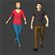 Lowpoly Rigged People - 3DOcean Item for Sale