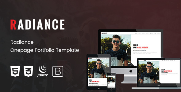 Radiance - Onepage Portfolio Template Free Download | Nulled