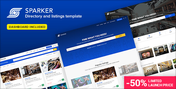 Sparker - Directory and Listings Template Free Download | Nulled